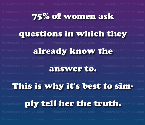 75% of women ask questions