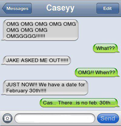 We have a date for february 30