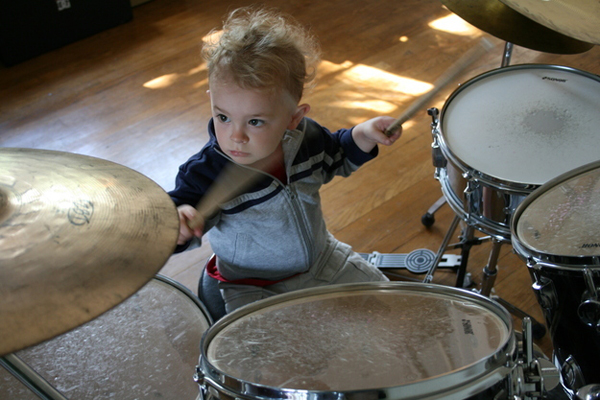 3.) The parents who thought drums would be an awesome gift.