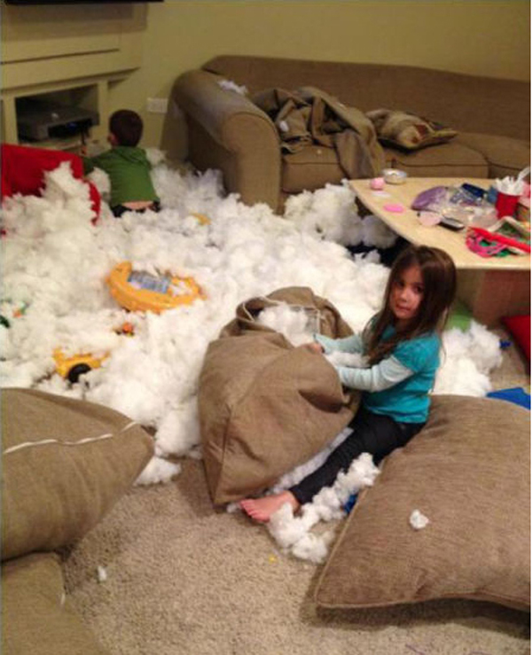 7.) Whoever thought getting an overstuffed couch was a good idea.