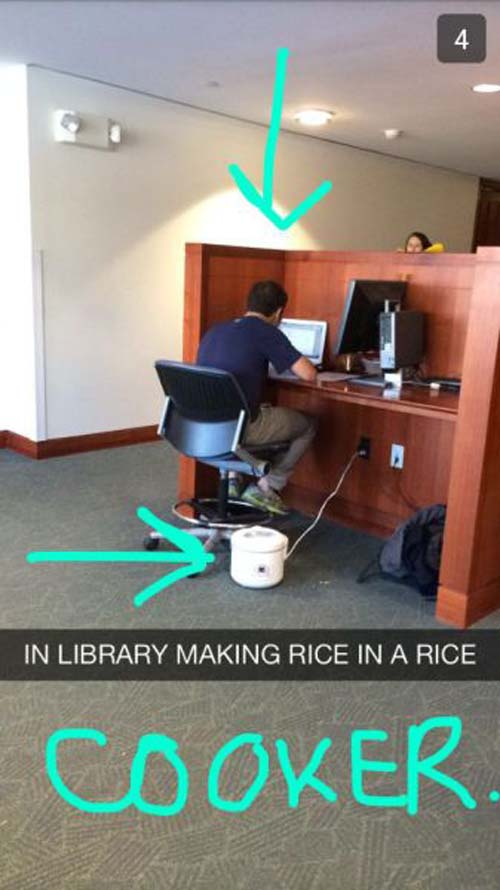 Funny Snapchat Rice Cooker
