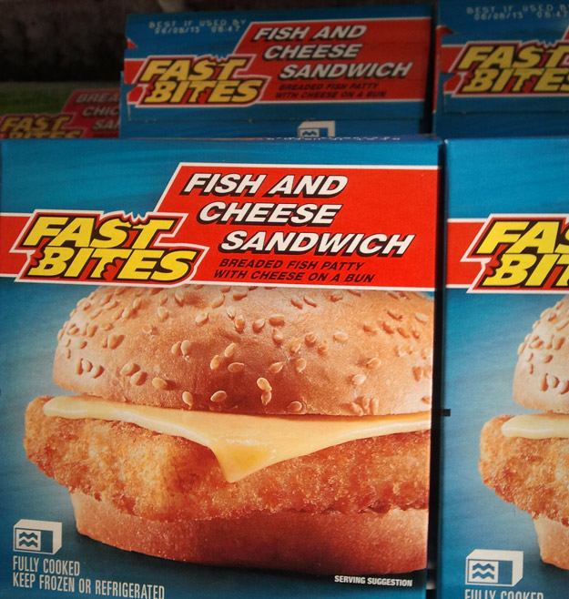 17 horrifying foods from the dollar store humormeetscomics for Fish and cheese