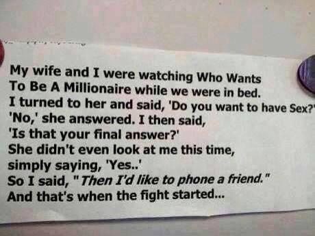 I'd like to phone a friend