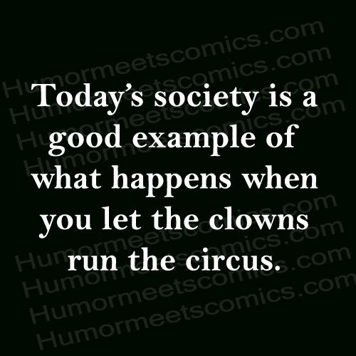 clowns run the circus