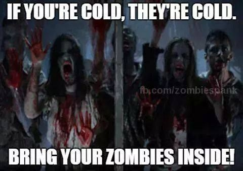 bring zombies inside