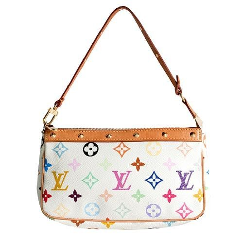Buying a fake Takashi Murakami Louis Vuitton bag and passing it off as a real one.