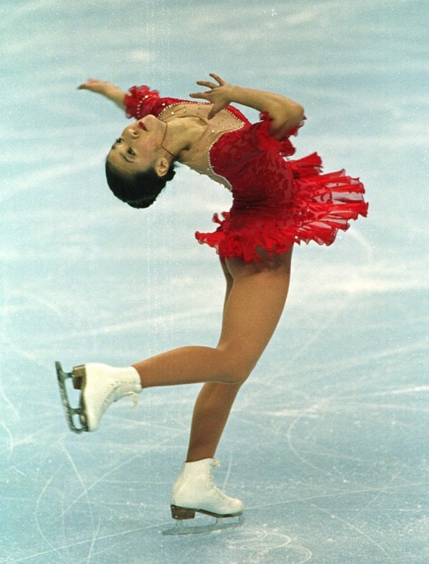 That every time you went to someone's ice skating birthday, you'd get out there and have moves just like Michelle Kwan.