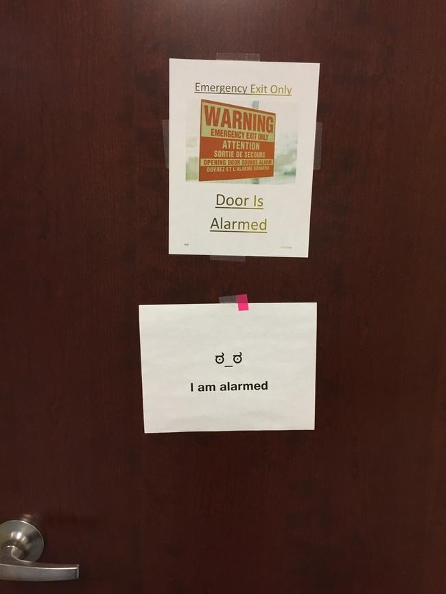 Door is alarmed