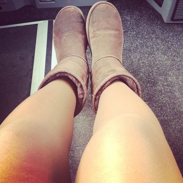 A fresh new pair of UGGs like the ones Britney wore.