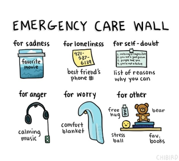 """Build your own """"emergency care wall."""""""