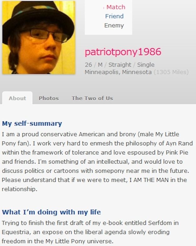 Example of a successful dating profile