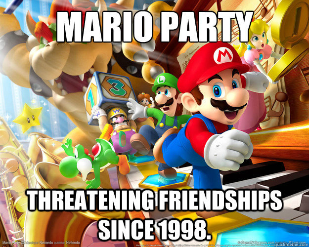 When Mario is responsible for ruining your birthday party