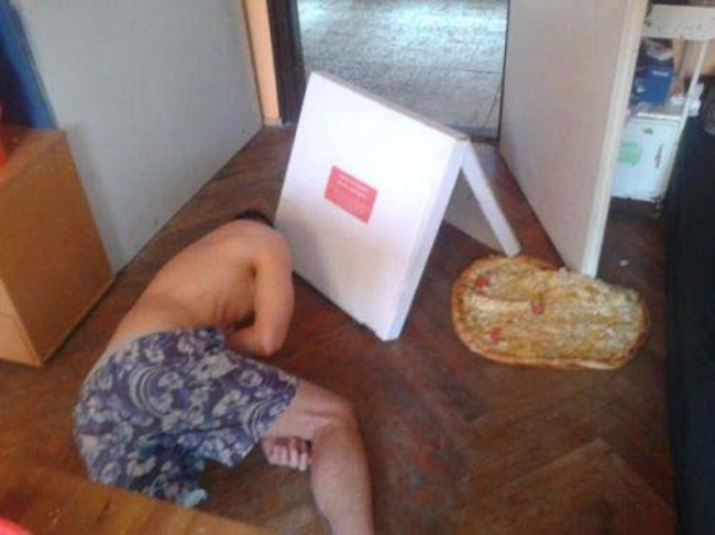 he dropped pizza