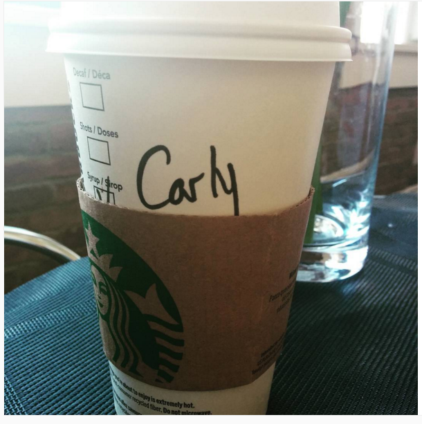 6. HAHAHA Starbucks misspelled your name…nobody cares.
