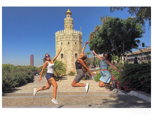 9. You and your friends jumping for some reason in front of some known landmark…What does this add to the photo