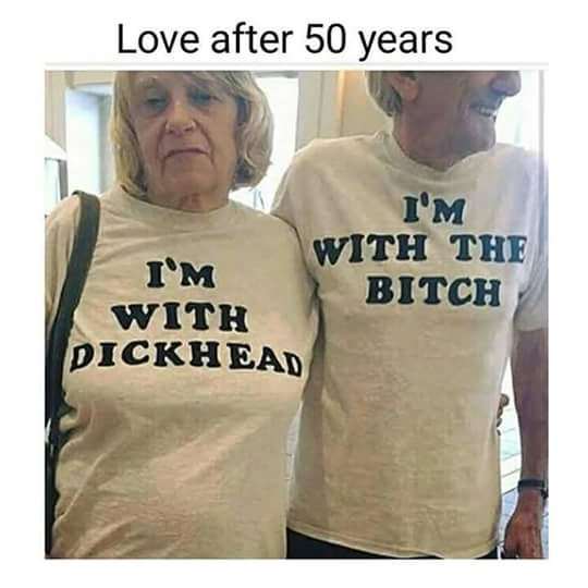 Old people with sense of humor