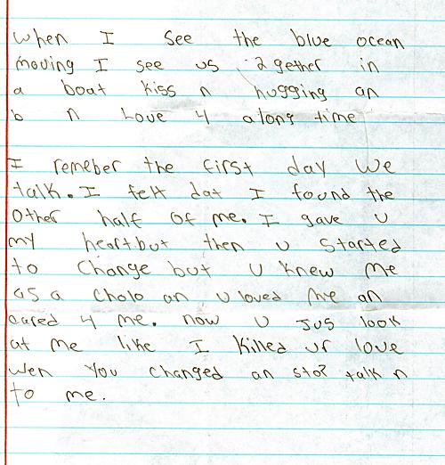 Freaky love letters