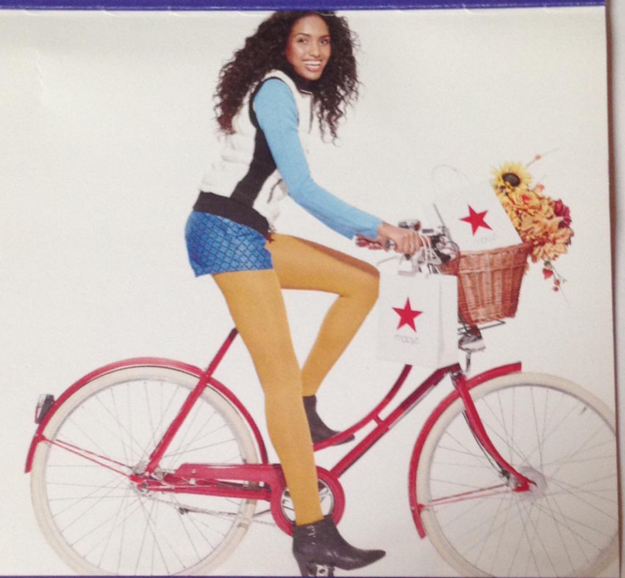 And finally, this Macy's model, whose ass is floating in air.