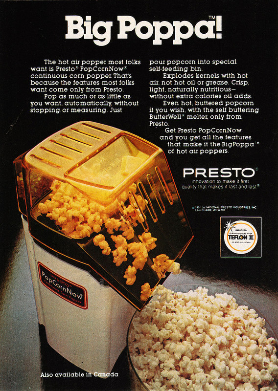 presto popcornnow continuous corn popper manual