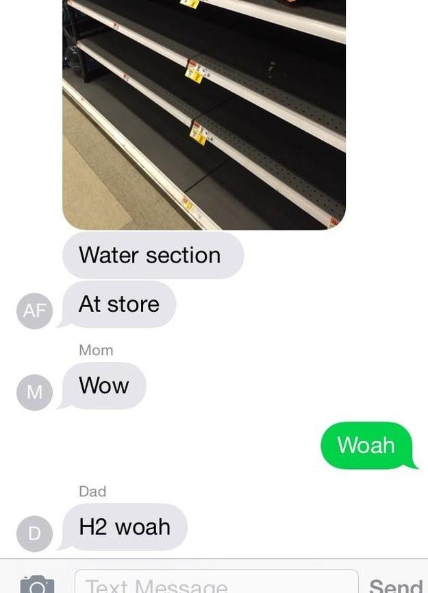 Dad's shock