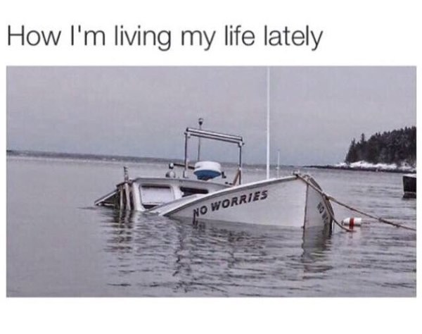 Finals week is this boat