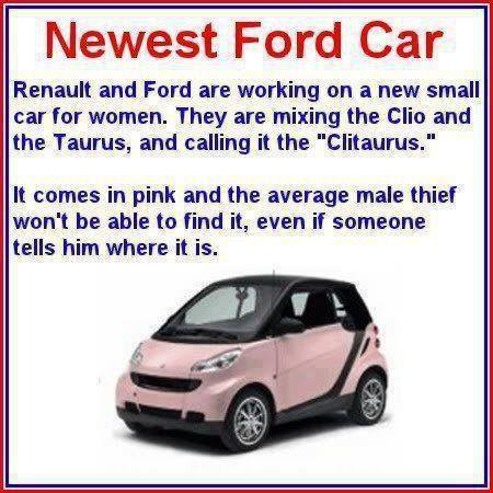 Renault and ford and working for a new small car for women. This is Hilarious