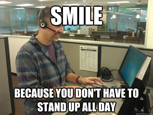 When someone gets a standing desk