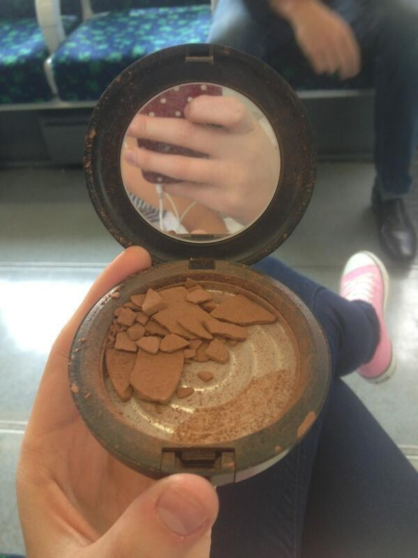 When you drop your bronzer and all your dreams shatter