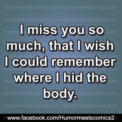 I miss you so much that i wish i could remember