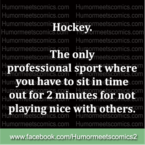 Hockey the only professional spoet where you have to sit in time out